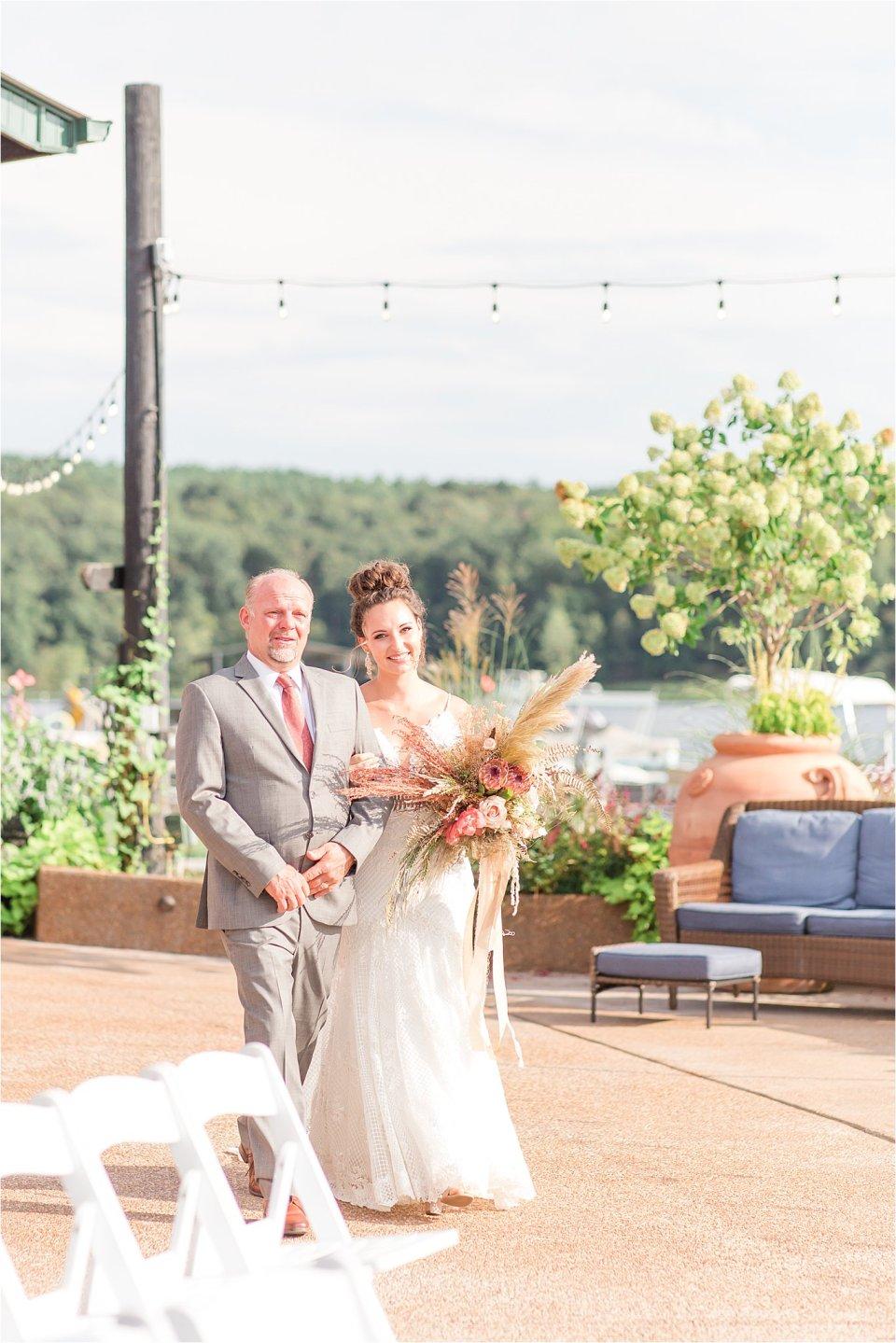 wedding ceremony at Egyptian Hills Resort wedding
