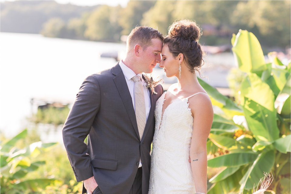 Bride and groom at Lake of Egypt Wedding