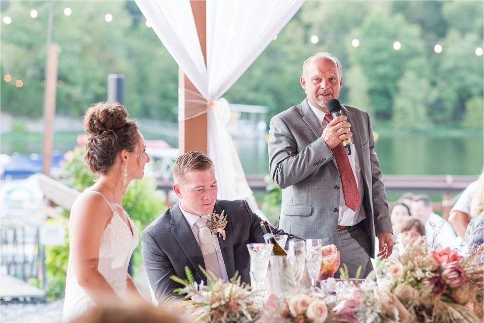 Father of the bride speech at Egyptian Hills Resort wedding