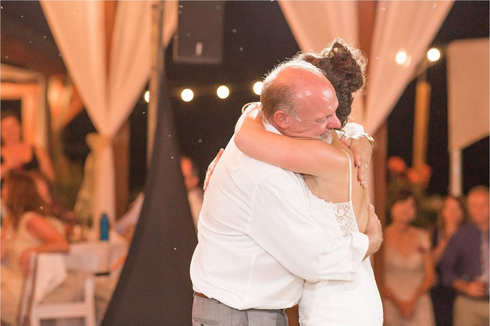 Father daughter dancing at outdoor wedding Egyptian Hills Resort