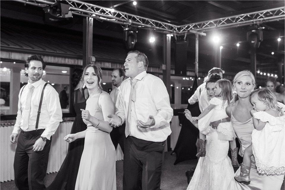 Wedding party dancing at outdoor wedding Egyptian Hills Resort