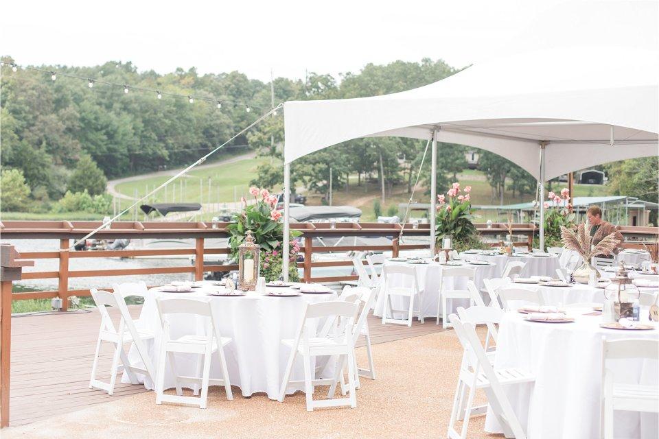 Outdoor wedding setup at Egyptian Hills Resort by Karen Shoufler Photography