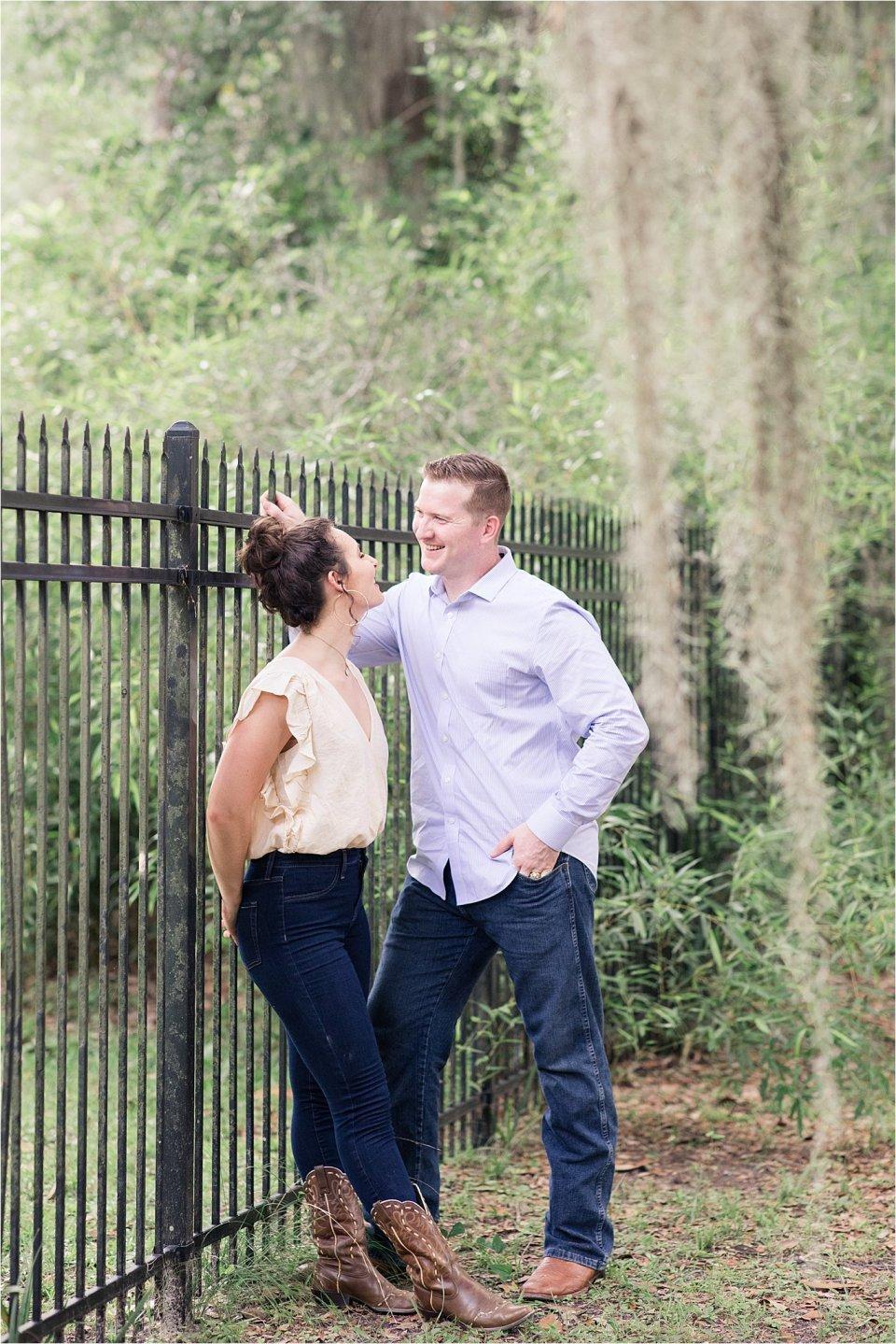 Couple in Wormsloe Plantation in Savannah, GA by destination photographer Karen Shoufler