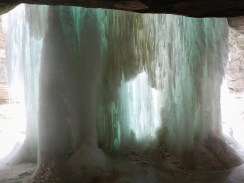 Back of LaSalle Canyon icefall © 2014 Karen A Johnson