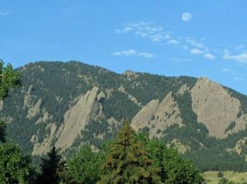 Mountain and moon © 2014 Karen A. Johnson