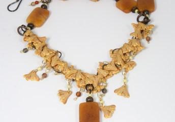 Ginkgo Rain necklace-back © 2014 Karen A. Johnson