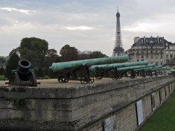 Cannons and Eiffel tower © 2014 Karen A. Johnson
