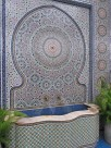 Zellij Fountain-Moroccan mosaic fountain © 2016 Karen A. Johnson © 2016 Karen A. Johnson