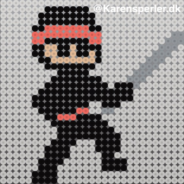 Mønster Hama Ninja