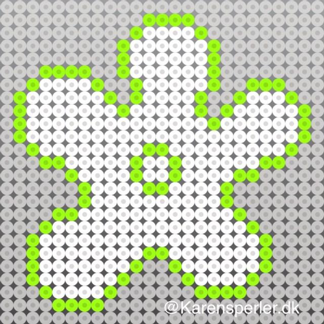 Mønster blomst hama