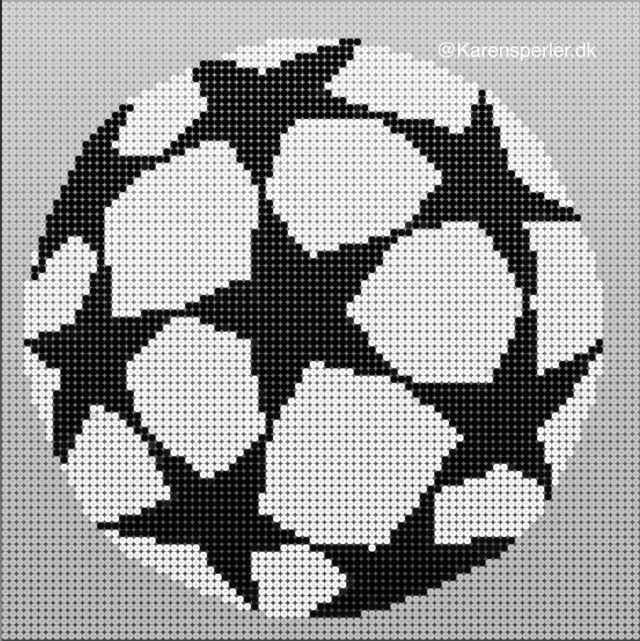 Champions league logo I perler