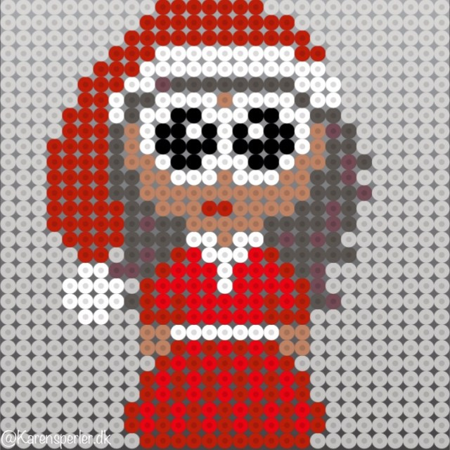 Jul nisser i hama perler