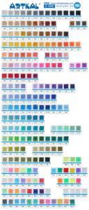 Artkal midi s farvekort