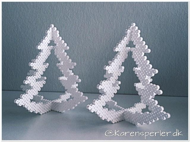 Juletræer i perler lysestager
