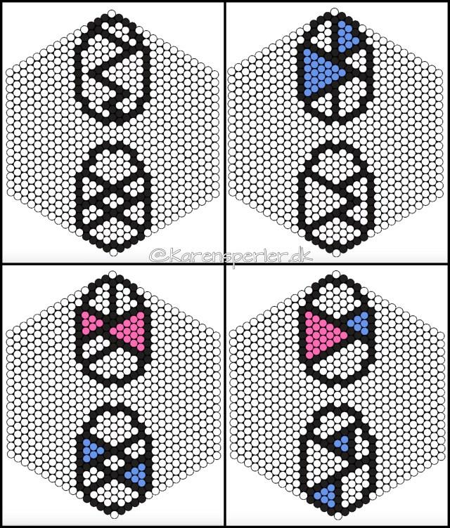 Påskeæg i perler/fusebeads
