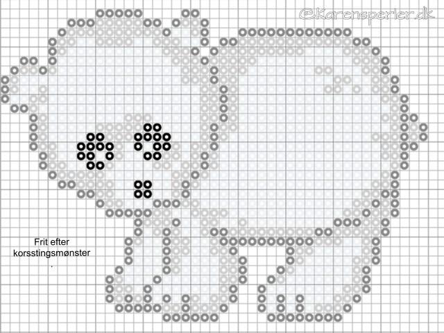 Isbjørn i perler