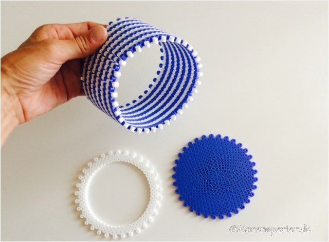 Rund æske i 3D perler