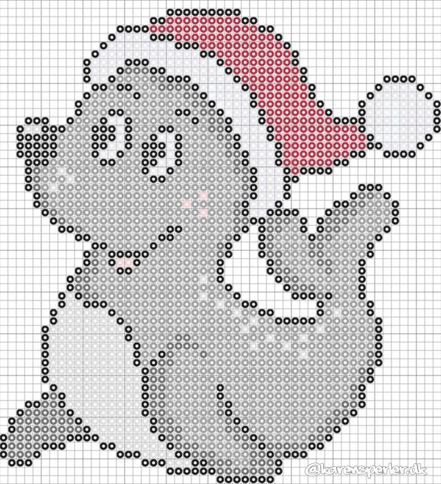 Jule søløve sæl i perler