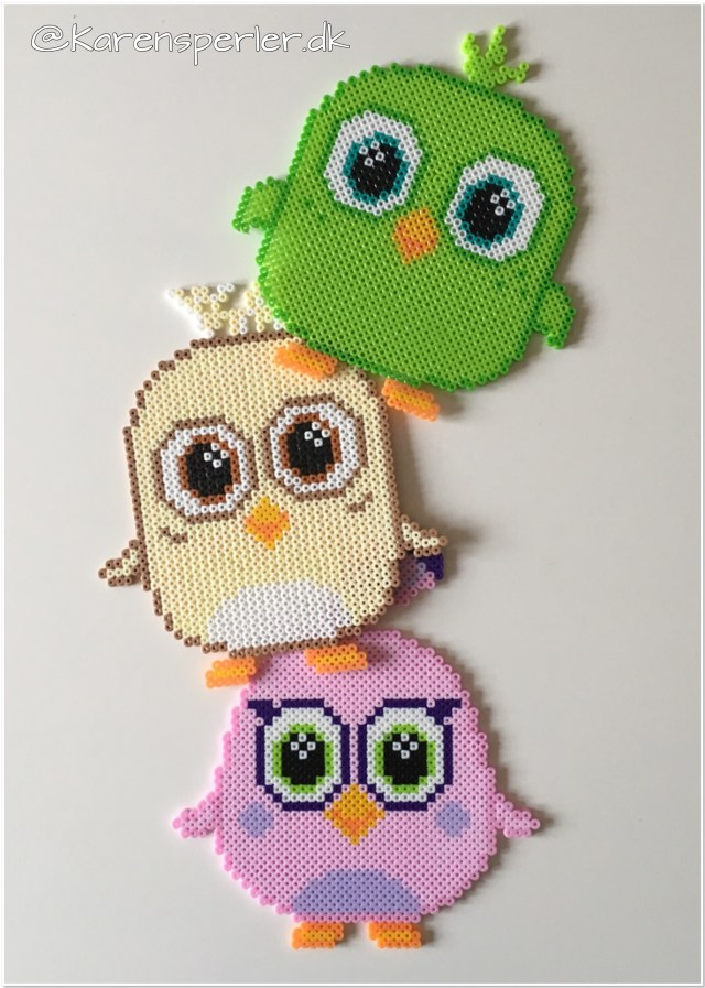 Angry birds movie Hama perler Hatchlings