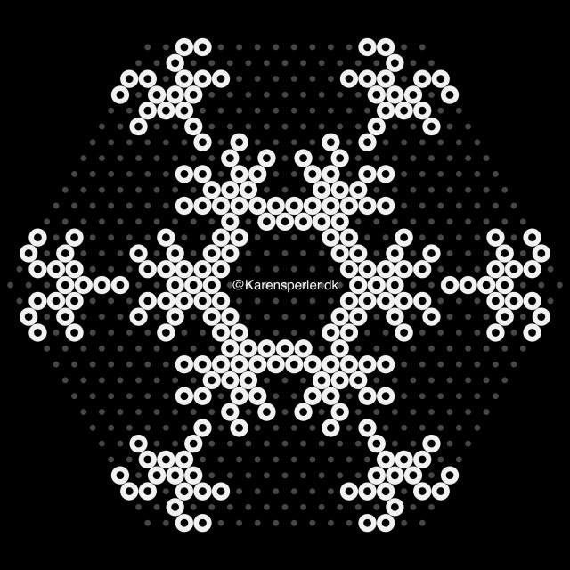 Stort snefnug til fyrfadslys