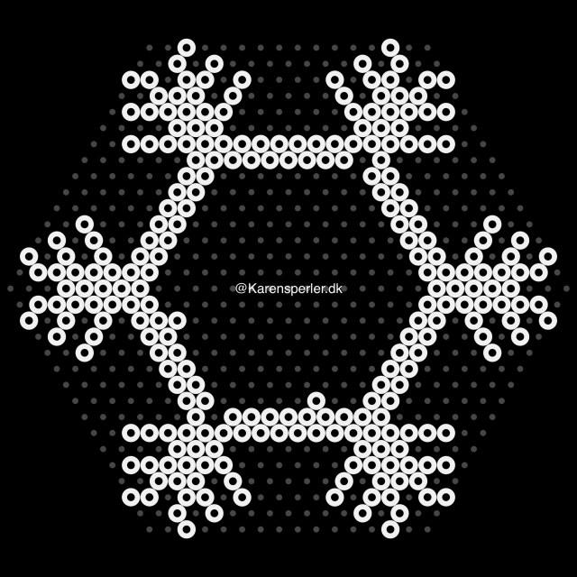 Mønster 3D snefnug i artkal perler