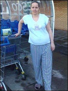 Wearing pj's while shopping