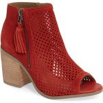 Sole Society Dallas Perforated Peep Toe Bootie