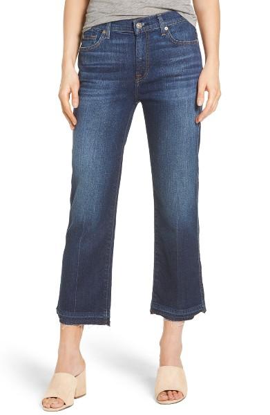 7 for All Mankind Kiki High Waist Crop Wide Leg Jeans