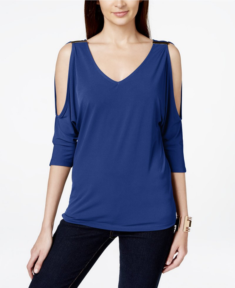 INC Cold Shoulder Top