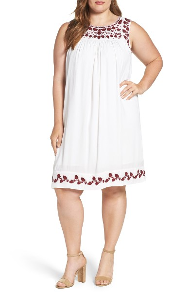 Lucky Brand Hannah Embroidered Shift Dress