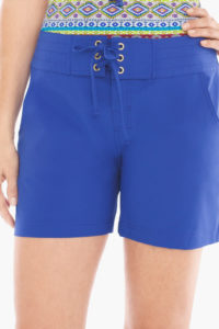 Chico's Blanca All Aboard 5 inch Swim Coverup Shorts $49