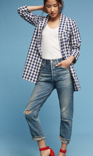 Anthropologie Cece Gingham Jacket