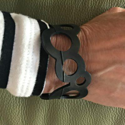 Black Rubber Circle Bracelet from Barcelona!