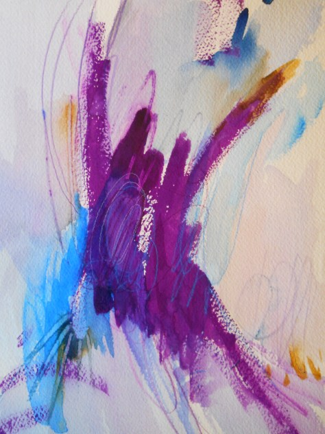 "Violet Outburst, 10"" x 7"", watercolor, 2001, $50"