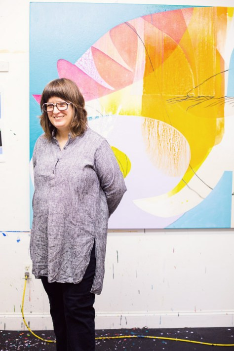 Artist Studio tour of Carrie Moyer in Brooklyn, New York
