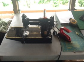 Yeah I have my Singer featherweight out and ready for sewing