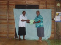 Arthur receiving his certificate