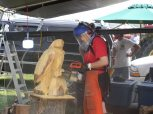 carving an eagle