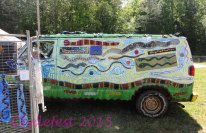 Snakes on a Van--Peter Loose's vehicle.