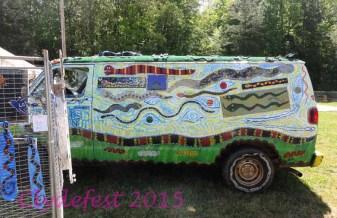 Snakes on a Van--Peter Loose's vehicle.