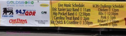 Band and BBQ judging schedule.