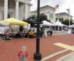 Beak Week sponsor tents.