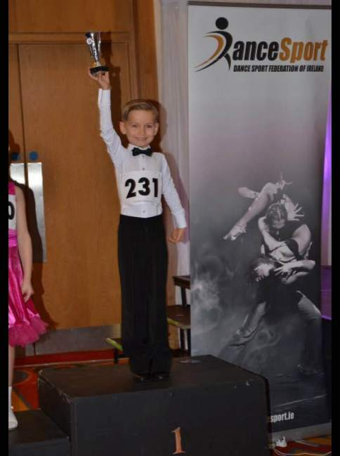 Justin winning his first ever competition!