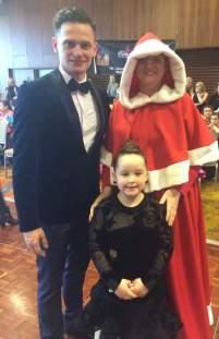 Wojtek with Mrs.Claus and Hannah