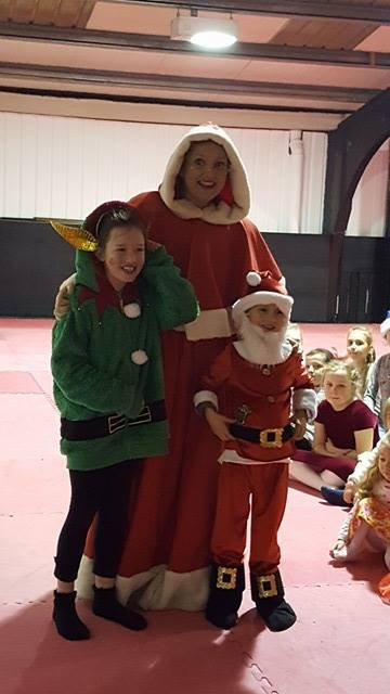 Justin and Dayna with Mrs.Claus