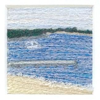 Breakwater - Freehand machine embroidery by Tamara Russell – Karhina.com
