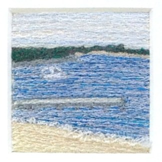 Breakwater - Freehand machine embroidery by Tamara Russell – Karhina.com