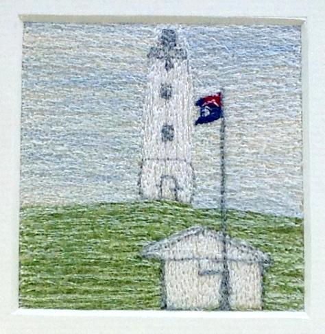 Lighthouse - Freehand machine embroidery by Tamara Russell – Karhina.com