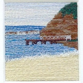 The Pier Freehand machine embroidery using landscape images to create amazing wall art – Tamara Russell – Karhina.com