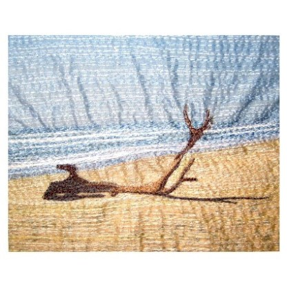 Driftwood - Freehand machine embroidery by Tamara Russell – Karhina.com